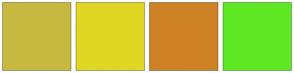 Color Scheme with #C7B940 #E0D724 #CF8225 #5EE823