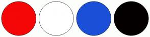 Color Scheme with #F50707 #FFFFFF #1B4FD8 #040000