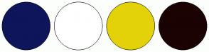 Color Scheme with #0E155B #FFFFFF #E4D209 #1B0303