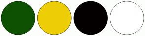 Color Scheme with #0E5103 #EDCE07 #050000 #FFFFFF