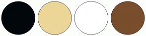 Color Scheme with #01070C #ECD698 #FFFFFF #784E2D