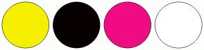 Color Scheme with #F5F000 #090101 #F00C83 #FFFFFF