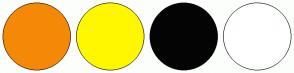 Color Scheme with #F58907 #FFF700 #040404 #FFFFFF