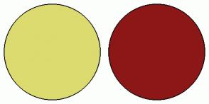 Color Scheme with #DBDB70 #8C1717