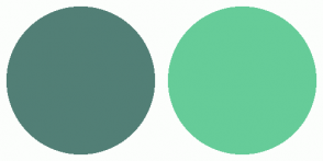 Color Scheme with #527F76 #66CC99