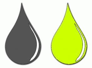 Color Scheme with #545454 #CCFF00
