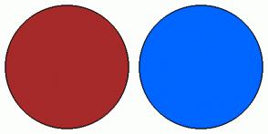 Color Scheme with #A62A2A #0066FF