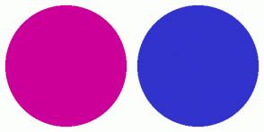 Color Scheme with #CC0099 #3232CD