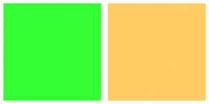Color Scheme with #33FF33 #FFCC66