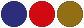 Color Scheme with #2C2E7B #D20A11 #926F15