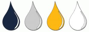 Color Scheme with #1A2740 #CCCCCC #FDB813 #FFFFFF