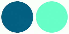 Color Scheme with #036080 #69FFCA