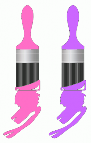 Color Scheme with #FF6EC7 #CC66FF