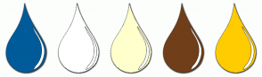 Color Scheme with #005B9A #FFFFFF #FFFFCC #703E19 #FFCC00