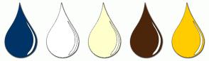 Color Scheme with #003366 #FFFFFF #FFFFCC #4C260A #FFCC00