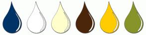 Color Scheme with #003366 #FFFFFF #FFFFCC #4C260A #FFCC00 #86942A