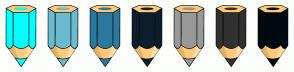Color Scheme with #00FFFF #6ABBCF #2C799F #0D1F2C #999999 #313131 #000B11