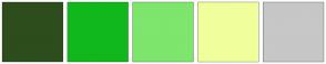 Color Scheme with #2D4D1D #10B81C #7EE56D #F0FF9B #C6C7C6
