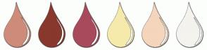 Color Scheme with #CF8B7A #88382D #A84A5C #F5EAAB #F5D5BC #F4F3EE