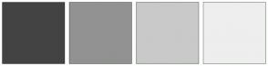 Color Scheme with #434343 #929292 #C9C9C9 #EEEEEE