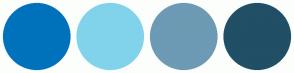 Color Scheme with #0072BC #81D3EB #6D9AB4 #214F65