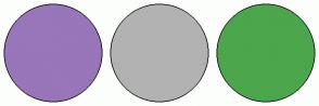 Color Scheme with #9975B9 #B2B2B2 #4CA64C