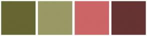 Color Scheme with #666633 #999966 #CC6666 #663333