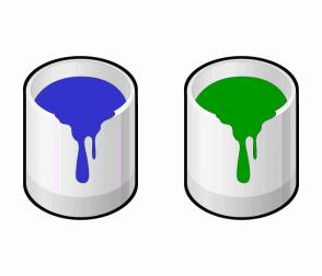 Color Scheme with #3333CC #009900