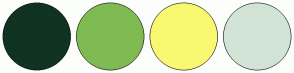 Color Scheme with #113322 #7FBB52 #F9F871 #D2E4D6