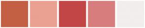 Color Scheme with #C36043 #EAA191 #C34646 #D87D7D #F2EEEE