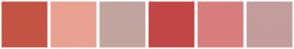 Color Scheme with #C35443 #EAA191 #C1A49D #C34646 #D87D7D #C39C9C