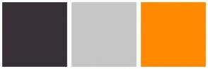 Color Scheme with #373136 #C6C6C6 #FF8A00