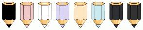 Color Scheme with #000000 #F2C9C9 #FFFFFF #DCD5F5 #FFE7C1 #CBEBF0 #2F3033 #333333