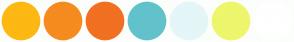 Color Scheme with #FDB813 #F68B1F #F17022 #62C2CC #E4F6F8 #EEF66C #FFFFFF