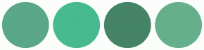 Color Scheme with #5AA789 #47BA8F #458466 #66AF8C
