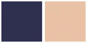 Color Scheme with #2F2F4F #E9C2A6