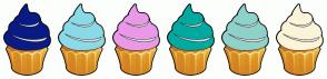 Color Scheme with #0A1B86 #8ADAE8 #EA99E9 #00AAA0 #8ED2C9 #FCF4D9
