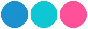 Color Scheme with #1B91CF #0FC7D3 #FF519A