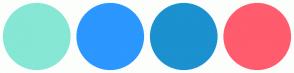 Color Scheme with #86E7D4 #2B97FF #1B91CF #FF5C6E