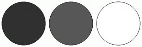 Color Scheme with #303030 #575757 #FFFFFF