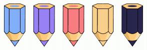 Color Scheme with #82AFF9 #9881F5 #F97D81 #F9D08B #29264E