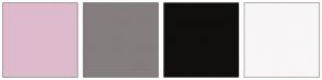 Color Scheme with #DDBBCC #857E7E #110E0E #F8F6F6