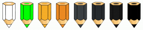 Color Scheme with #FFFFFF #00FF00 #F5AD28 #EB8921 #3B4043 #272B2E #191919 #000000