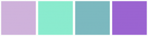 Color Scheme with #CFB2DB #8AEBCE #7CB9BF #9B64D1