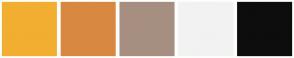 Color Scheme with #F2AE30 #D98841 #A68F81 #F2F2F2 #0D0D0D