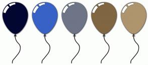 Color Scheme with #020731 #3862C6 #6E7587 #806641 #AE956D