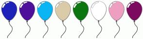 Color Scheme with #1E22B9 #4F109A #0BB5F4 #DBCBA9 #0C7610 #FFFFFF #EE9FC2 #7C0B5F