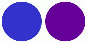 Color Scheme with #3333CC #660099