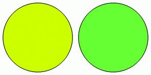 Color Scheme with #CCFF00 #66FF33