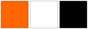 Color Scheme with #FF6600 #FFFFFF #000000